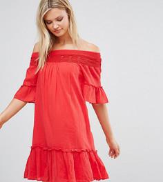 Платье со спущенными плечами Vero Moda Tall - Красный