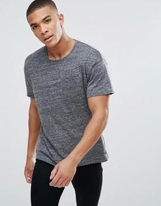 Футболка с заниженной линией плеч Esprit - Серый