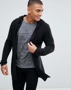 Кардиган с капюшоном Esprit - Черный