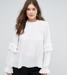 Блузка с оборками ASOS CURVE - Белый