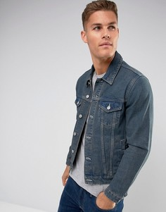 Темная джинсовая куртка ASOS - Синий