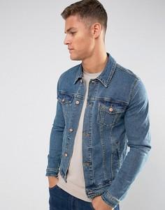 Приталенная джинсовая куртка ASOS - Синий