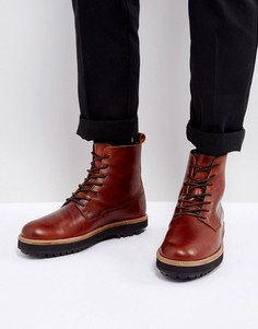 Коричневые кожаные ботинки на толстой подошве Zign - Коричневый