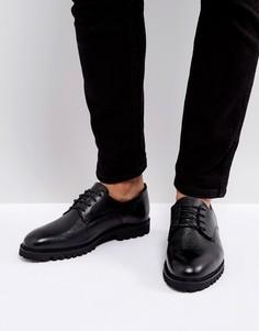 Кожаные туфли на толстой подошве Zign - Черный