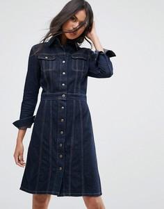 Джинсовое платье на пуговицах Lee Authentic - Синий