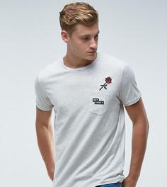 Футболка с вышивкой на кармане Jack & Jones Originals - Серый