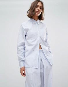 Рубашка в полоску Wood Wood Lori - Синий