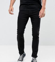Черные выбеленные удлиненные джинсы скинни Nudie Jeans TALL - Черный