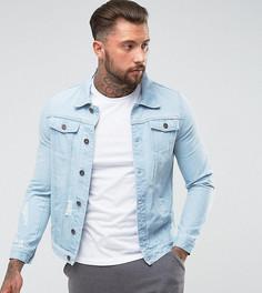 Голубая джинсовая куртка Liquor N Poker - Синий