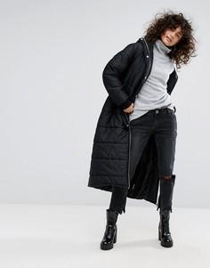 Длинная дутая куртка Dr Denim - Черный