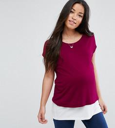 Двухслойная футболка для кормления ASOS Maternity - Красный