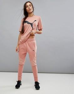 Розовые брюки Puma Evostripe - Розовый