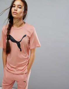 Розовая футболка бойфренда Puma Evostripe - Розовый