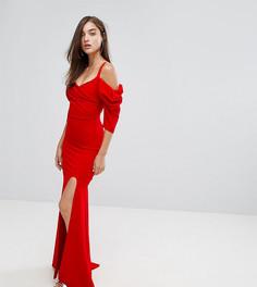 Платье макси со шлейфом TFNC - Красный