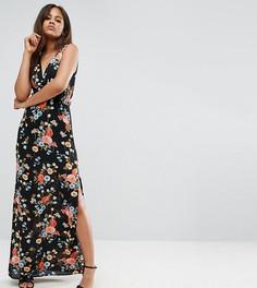 Платье макси с глубоким вырезом Oh My Love Tall - Мульти