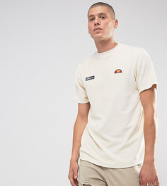 Светло-серая велюровая футболка с закругленным краем Ellesse - Светло-серый