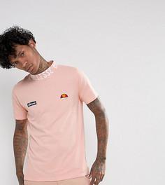 Розовая футболка с высоким воротом и логотипом Ellesse - Розовый