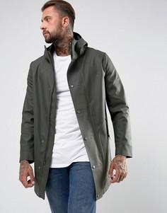 Пальто цвета хаки с прорезиненным эффектом Hunter - Зеленый