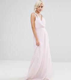 Платье макси с запахом TFNC Petite WEDDING - Розовый
