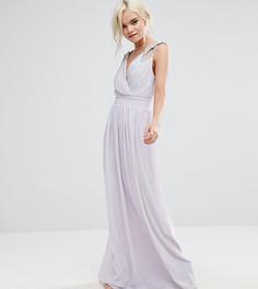 Платье макси с запахом TFNC Petite WEDDING - Фиолетовый