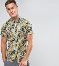Рубашка с короткими рукавами и гавайским принтом Selected Homme - Темно-синий