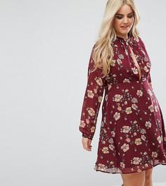 Платье с цветочным принтом Boohoo Plus - Мульти