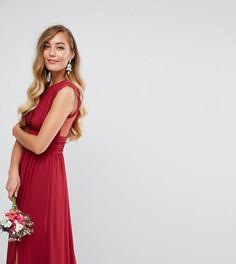 Платье макси с кружевной отделкой TFNC Tall WEDDING - Красный