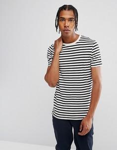 Обтягивающая футболка в полоску ASOS - Черный