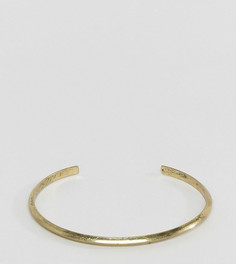 Золотистый полированный браслет ASOS PLUS - Золотой