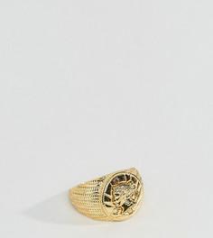 Позолоченное кольцо ASOS PLUS - Золотой