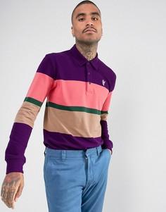 Поло с длинными рукавами и вышитым логотипом HUF Bayside - Фиолетовый