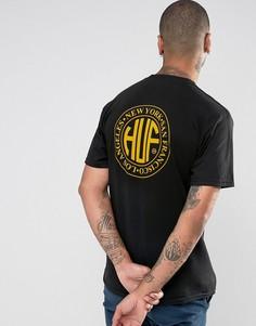 Футболка с принтом на спине HUF Regional - Черный