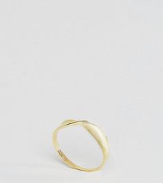 Витое кольцо из позолоченного серебра ASOS CURVE - Золотой