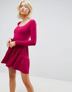 Свободное платье мини со вставками ASOS - Красный