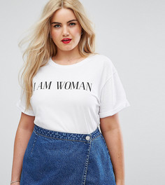Футболка с принтом I am Woman ASOS CURVE - Белый