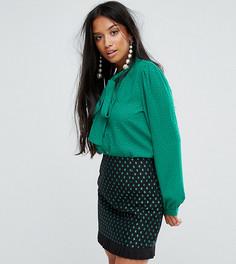 Блузка с завязкой на бант Sister Jane Petite - Зеленый