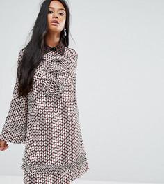 Платье с мозаичным принтом и оборками Sister Jane Petite - Мульти