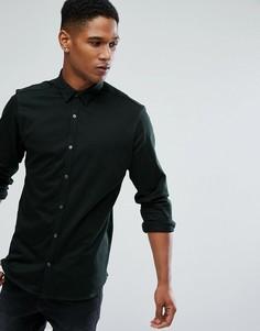 Трикотажная рубашка узкого кроя Jack & Jones Premium - Зеленый