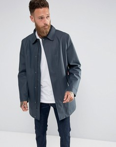 Темно-синее пальто с прорезиненным эффектом Hunter - Темно-синий