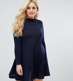 Свободное платье с высоким воротом AX Paris Plus - Темно-синий