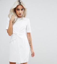 Короткое приталенное платье ASOS PETITE - Белый