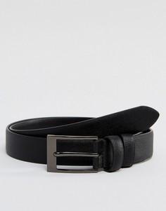 Черный кожаный ремень скинни Smith And Canova - Черный
