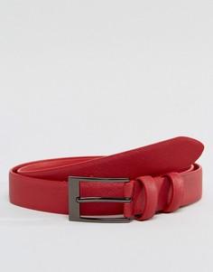 Красный кожаный ремень скинни Smith And Canova - Красный