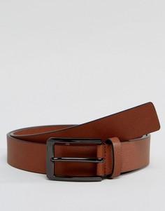 Светло-коричневый кожаный ремень Smith And Canova - Рыжий