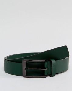 Зеленый кожаный ремень Smith And Canova - Зеленый