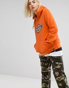 Oversize-худи с логотипом Dickies - Оранжевый