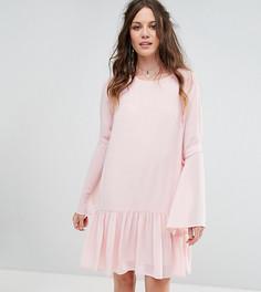 Свободное платье с баской и завязками на рукавах Glamorous Tall - Розовый