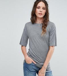 Свободная футболка с вырезами Glamorous Tall - Серый