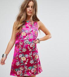 Парчовое платье металлик без рукавов Glamorous Petite - Розовый