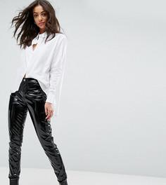Блестящие брюки скинни Glamorous Tall - Черный